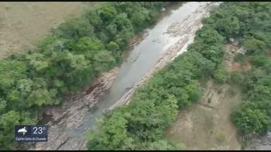 Vídeo mostra seca no Rio Verde, em Varginha - Vídeo mostra seca no Rio Verde, em Varginha