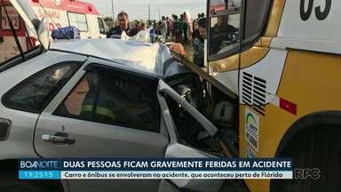 Duas pessoas ficam feridas em acidente - Um homem teve que ser transportado de helicóptero