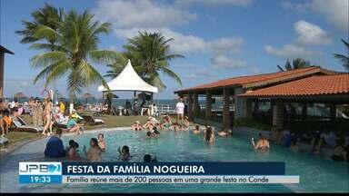 Família faz encontro de gerações no Conde - Família Nogueira fez uma festa em uma pousada no Conde.