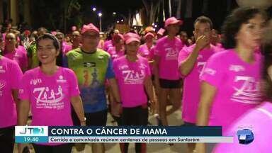 Corrida e Caminhada do Outubro Rosa é realizada em Santarém - O evento ocorreu neste sábado (19) e é destinado à prevenção do câncer de mama.