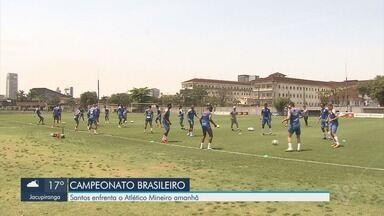 Santos enfrenta o Atlético Mineiro neste domingo (20) - Em busca da liderança no Brasileirão, o Santos entra em campo contra o Atlético Mineiro, neste domingo (20), em Belo Horizonte.