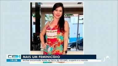 Mulher encontrada morta na beira da CE-040 - Saiba mais no g1.com.br/ce