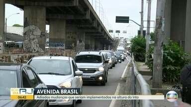 Adiada alteração na Avenida Brasil - Mudança seria feita na altura do Into, no Caju.