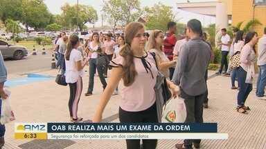OAB realiza exame da ordem em Manaus - Segurança foi reforçada para um dos candidatos.