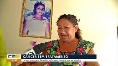 Há um ano dona Benedita sofre com câncer que se espalha e não consegue tratamento - Saiba mais no g1.com.br/ce