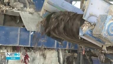 Óleo recolhido nas praias é transformado e usado como combustível para indústrias - Fábricas de cimento utilizam o produto, que está sendo levado para centro de tratamento em Igarassu