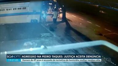 Justiça aceita denúncia contra homem acusado de agredir mulher - Homem é acusado de tentativa de homicídio
