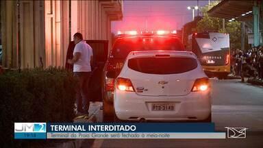 Terminal da Praia Grande será interditado à 0h desta terça (22) em São Luís - Medida ocorre após uma inspeção que constatou diversos riscos aos usuários.