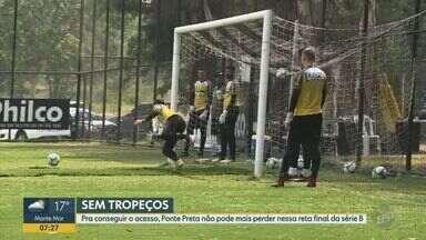 Ponte Preta busca vitórias nas próximas partidas para conseguir acesso à série A - Time está em 10° lugar da série B do Brasileirão.