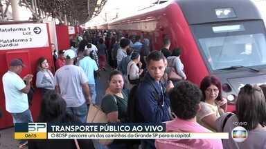 Transporte público ao vivo no BDSP - Equipe do BDSP percorre a Linha 7 - Rubi da CPTM.