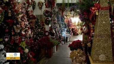Comércio já registra buscas por decorações natalinas - Pessoal não quer deixar as compras para a última hora.