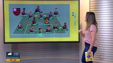 Confira a provável escalação do Flamengo para jogo da noite desta quarta-feira (23) - Assista ao vídeo.