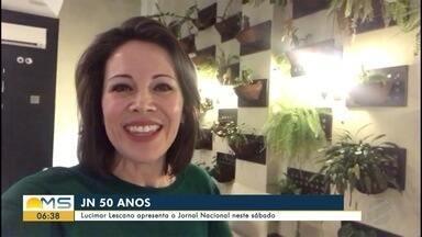No RJ, Lucimar Lescano conta um pouco sobre a rotina nesta quarta-feira - Lucimar Lescano vai apresentar o JN no sábado (26).