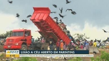 Parintins terá 2 anos para solucionar problema com lixão a céu aberto - Acordo foi firmado entre Prefeitura do município e TCE.