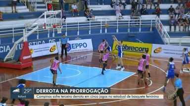 Campinas sofre terceira derrota em cinco jogos no estadual de basquete feminino - Após empate no tempo normal, time campineiro foi derrotado pelo Ituano por 70 a 67 na prorrogação.