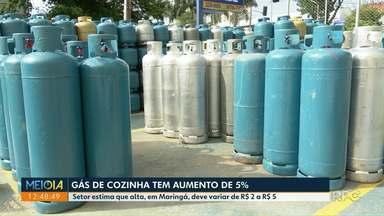 Gás de cozinha tem aumento de 5% - Setor estima que preço suba de R$ 2 a R$ 5 em Maringá.