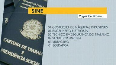 Veja quais as vagas disponíveis para Rio Branco nesta quarta-feira (23) o Sine oferece - Veja quais as vagas disponíveis para Rio Branco nesta quarta-feira (23) o Sine oferece
