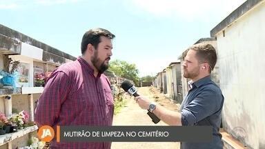 Cemitério de Uruguaiana tem mutirão de limpeza para o dia de finados - Assista ao vídeo.