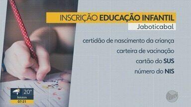 Matrículas para educação infantil terminam nesta quinta-feira (24) em Jaboticabal - Pais devem procurar a Secretaria Municipal de Educação entre 8h e 11h.