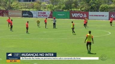 Zé Ricardo estreia no comando do Inter no próximo sábado (26) - Técnico prepara o time colorado para enfrentar o Bahia.