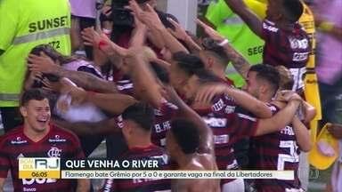 Fla goleia Grêmio e está na final da Libertadores - Time ganhou por 5 a 0 e vai disputar o título contra o River Plate no dia 23 de outubro em Santiago, no Chile.