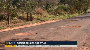 Mais da metade das estradas paranaenses estão ruins - O dado foi divulgado pela Confederação Nacional do Transporte.