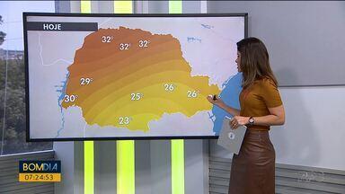 Quinta-feira (24) de calor no Paraná - Umidade do ar fica baixa nas cidades do interior.
