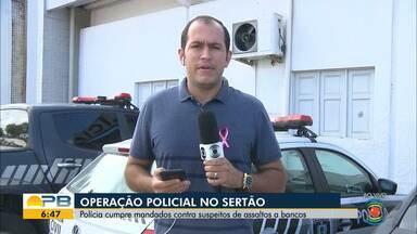 Operação integrada cumpre mandados de prisão e de busca e apreensão, na Paraíba - Mandados foram cumpridos em Catolé do Rocha, Lagoa, Jericó, Santa Cruz, Pombal, no Sertão paraibano, e na região metropolitana de João Pessoa.