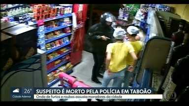 Suspeito de assalto é morto pela polícia em Taboão da Serra - Dois homens foram presos e outro fugiu.