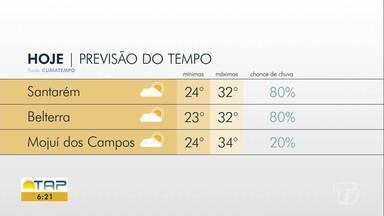 Saiba como fica o clima em Santarém e região - Confira a previsão do tempo para os próximos dias.