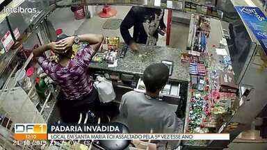 Padaria em Santa Maria é assaltada pela 5ª vez nesse ano - Criminosos levaram cerca de R$200,00 e maços de cigarro.