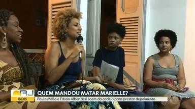 Ex-deputados Paulo Mello e Edson Albertassi prestam depoimento no caso Marielle - Ex-deputados Paulo Mello e Edson Albertassi saíram da cadeia para prestar depoimento sobre o assassinato da vereadora Marielle Franco. Edson Albertassi disse que não conhecia a vereadora.