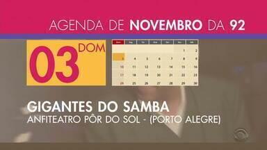 Confira a agenda de shows da Rádio 92 com a Cris Silva - Assista ao vídeo.