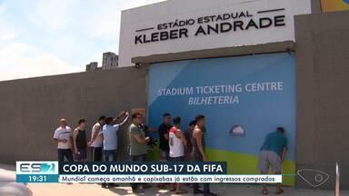 Copa do Mundo Sub-17 da Fifa começa no sábado e capixabas já estão com ingressos comprados - Jogos vão acontecer no Estádio Kléber Andrade, em Cariacica.