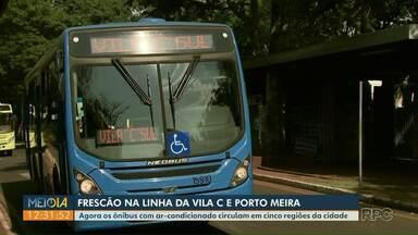 Ônibus com ar-condicionado começa a rodar em duas novas linhas - Agora os ônibus com ar-condicionado circulam em cinco regiões da cidade.