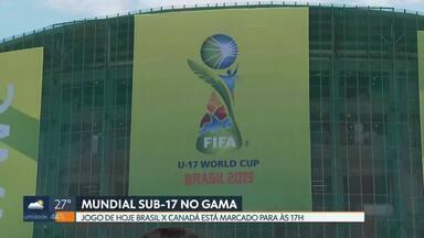 Começa hoje o Mundial sub-17 no Gama - Os ingressos para o jogo deste sábado (26) entre Brasil e Canadá estão esgotados.