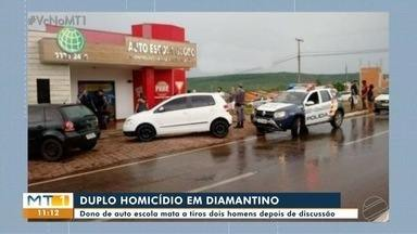 Dono de autoescola mata dois homens em Diamantino - Dono de autoescola mata dois homens em Diamantino.