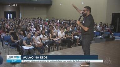 1ª revisão presencial do Aulão na Rede reúne estudantes na Zona Oeste de Macapá - Programação aconteceu neste sábado (19).