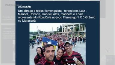 Interação no Globo Esporte Rondônia - Mande sua mensagem marcando a #GERondonia