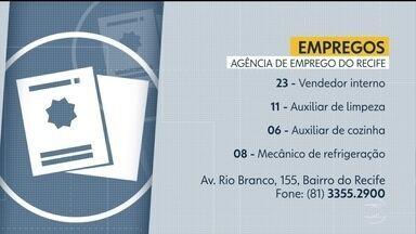 Confira vagas disponíveis na Agência de Emprego do Recife - Há oportunidade para vendedor, auxiliar de limpeza e mecânico.