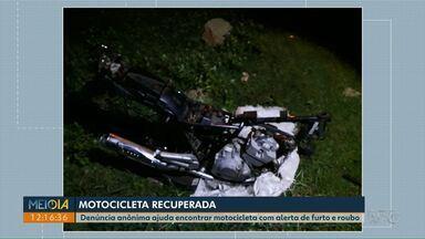 Denúncia anônima leva guardas à motocicleta com alerta de furto/roubo em Ponta Grossa - Veículo estava em processo de desmanche. Ninguém foi preso.