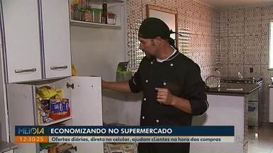 Meio-Dia Paraná dá dicas de como economizar no mercado - Consumidores têm contado com a ajuda da tecnologia para não perder dinheiro nas compras.