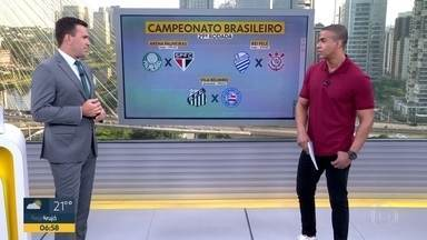 Palmeiras e São Paulo se enfrentam pelo Brasileirão - Esse é um dos destaques do nosso bloco de esportes.