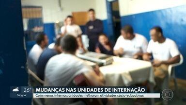 Com menos internos, unidades do Degase melhoram atividades sócio-educativas - No RJ, 623 adolescentes já foram liberados das unidades do Degase depois da liminar do ministro do STF para acabar com a superlotação.