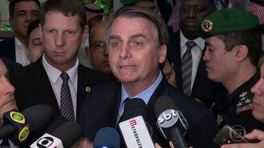 Jair Bolsonaro acusa governador Witzel de tentar prejudicá-lo - Em Riad, o presidente Bolsonaro se disse surpreso que um delegado de polícia tenha ignorado os registros e os áudios no computador e inventado, segundo ele, um depoimento para prejudicá-lo.