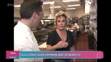Ana Maria aprende segredo de um prime beef perfeito em Las Vegas - O chef Sean Griffin mostra a forma de preparo da carne