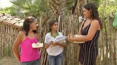 Estudante ajuda nos negócios da família com noções de educação financeira - Maria Vitória Martins é a personagem e hoje do quadro Aluno Nota 11.