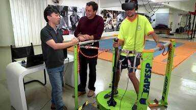 A tecnologia nas invenções brasileiras - O fisioterapeuta Caio programou um videogame para ajudar o filho a corrigir a postura. No Recife, Vitor desenvolveu uma luva robótica que ajuda pacientes que sofreram AVC.