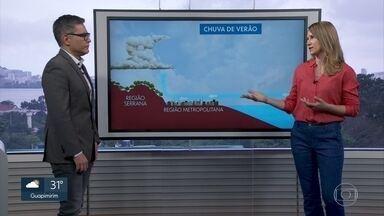 Anne Lottermann explica como acontecem as chuvas de verão no RJ - Veja a previsão do tempo para a Região Serrana e Metropolitana.