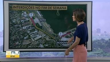 Pista lateral da Avenida Brasil fica parcialmente interditada no fim de semana - undefined